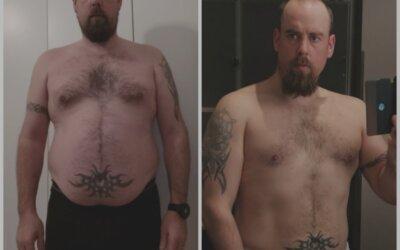 Muuttunut mies, tuloksia ennätystahdissa ja paino -15kg!
